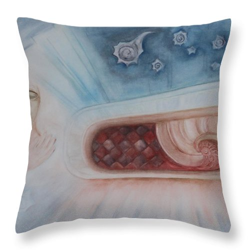 Portal Throw Pillow featuring the painting Dream Spiral by Diana Perfect