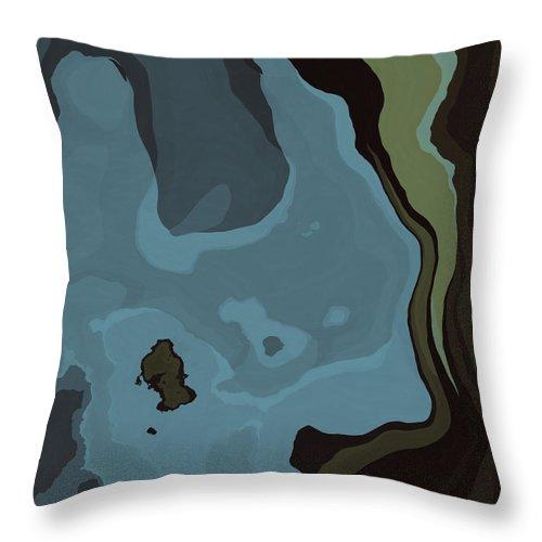 Dreams Throw Pillow featuring the digital art Dream World #3 by David G Paul