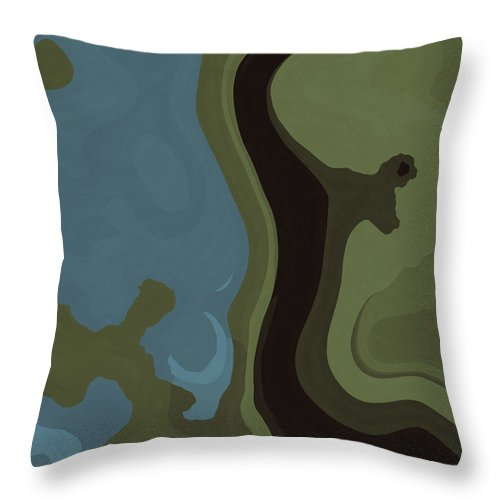 Dream Throw Pillow featuring the digital art Dream World #6 by David G Paul