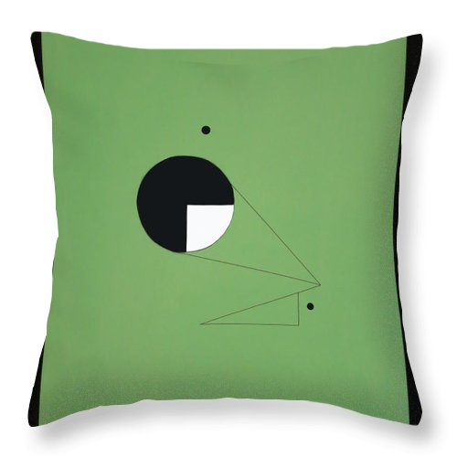 Symbolic Art Throw Pillow featuring the painting Dream49113 by Elle Nicolai