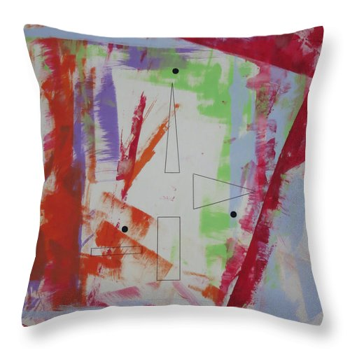 Symbolic Art Throw Pillow featuring the painting Dream69113 by Elle Nicolai