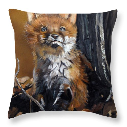 Southwest Art Throw Pillow featuring the painting Dreamer by J W Baker