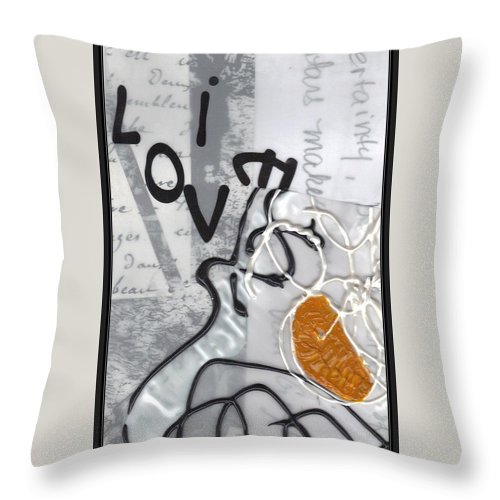 Throw Pillow featuring the mixed media Dreaming Stars by Lesley Fletcher