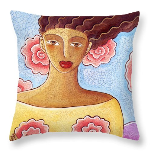 Figurative Throw Pillow featuring the painting Dreams by Elaine Jackson