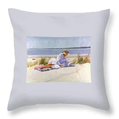 Impressionist Throw Pillow featuring the painting Dreams Of Fair Women I by Candace Lovely