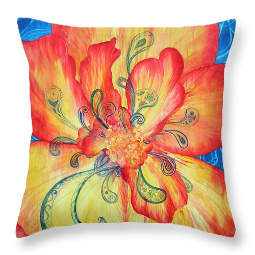 Watercolor Throw Pillow featuring the painting Dreams Of Frieda And Georgia by Annika Farmer