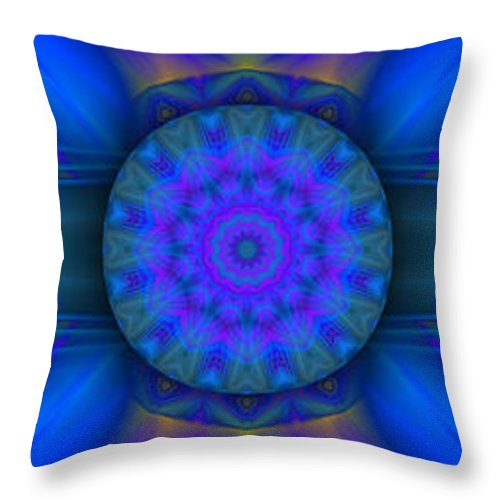 Hanza Turgul Throw Pillow featuring the digital art Dreamy Abstract by Hanza Turgul