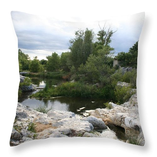 Stones Throw Pillow featuring the photograph Dreamy River by Christiane Schulze Art And Photography