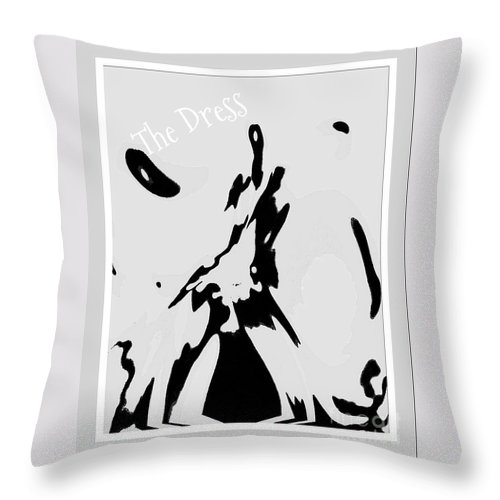 Canvas Prints Throw Pillow featuring the digital art Dressed To The Nines by Cindy McClung