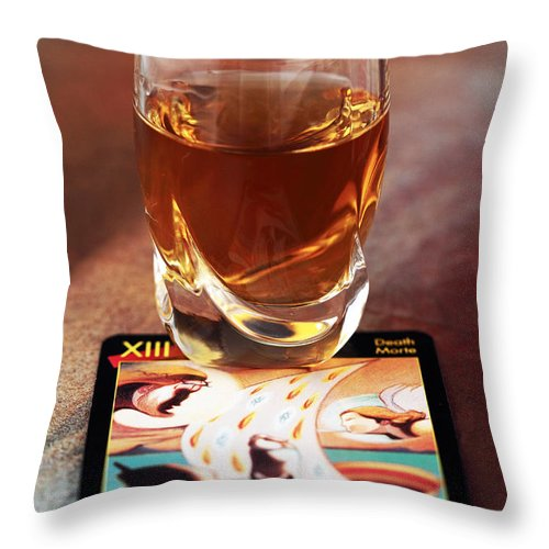 Drink Of Death Throw Pillow featuring the photograph Drink Of Death by John Rizzuto