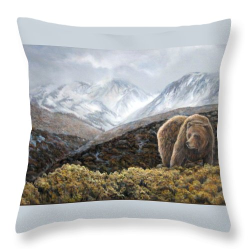 Nature Throw Pillow featuring the painting Driven To Rest by Donna Tucker