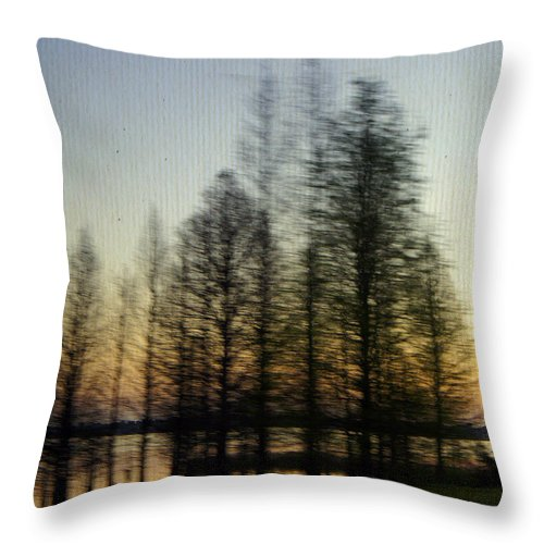 Lake Parker Throw Pillow featuring the photograph Driving By by Laurie Perry