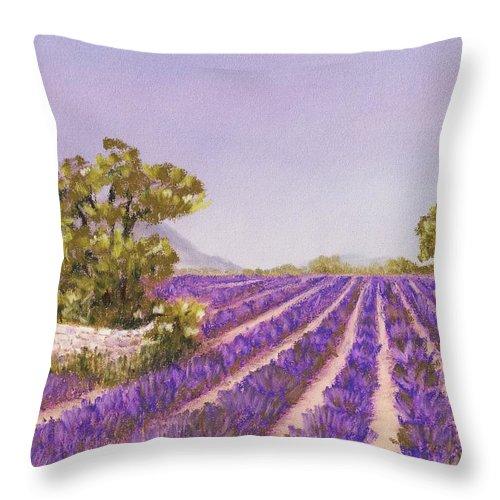Interior Throw Pillow featuring the painting Drome Provence by Anastasiya Malakhova