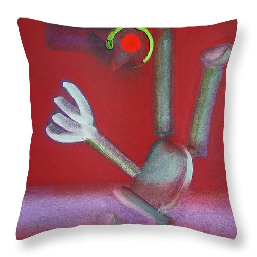 Icarus Throw Pillow featuring the painting Falling Figure by Charles Stuart