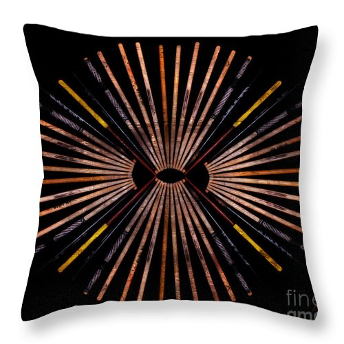 Drumsticks Photographs Throw Pillow featuring the photograph Drumsticks Fan by Deena Athans