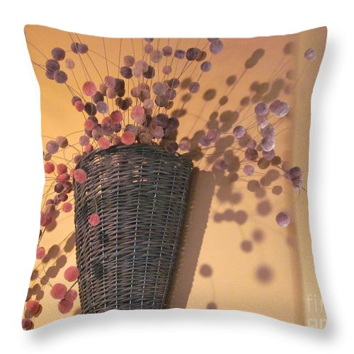 Flower Throw Pillow featuring the photograph Decorative Pussy Willow by Tina M Wenger