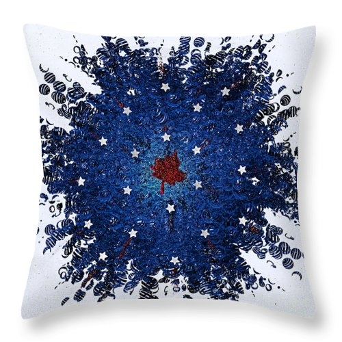 First Star Art By Jrr And Jammer Throw Pillow featuring the mixed media Dual Citizenship 1 by First Star Art