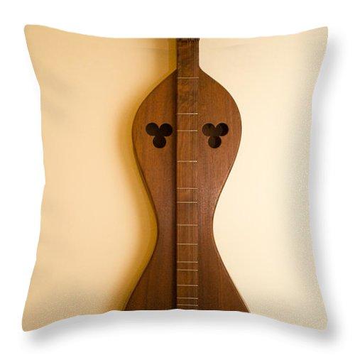 Dulcimer Throw Pillow featuring the photograph Dulcimer Portrait by Douglas Barnett