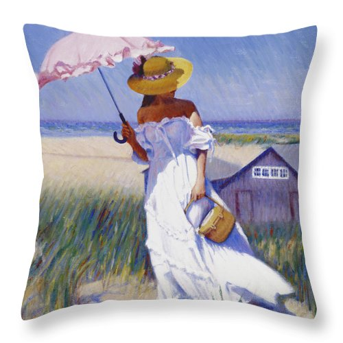 Impressionist Throw Pillow featuring the painting Dune High by Candace Lovely