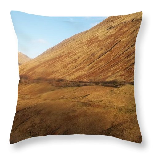 Scotland Throw Pillow featuring the photograph Dune Planet by James Potts