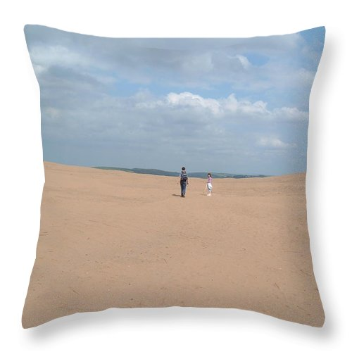 Dune Throw Pillow featuring the photograph Dune by Richard Brookes