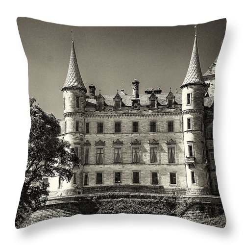 Dunrobin Throw Pillow featuring the photograph Dunrobin Castle Scotland by Roger Wedegis