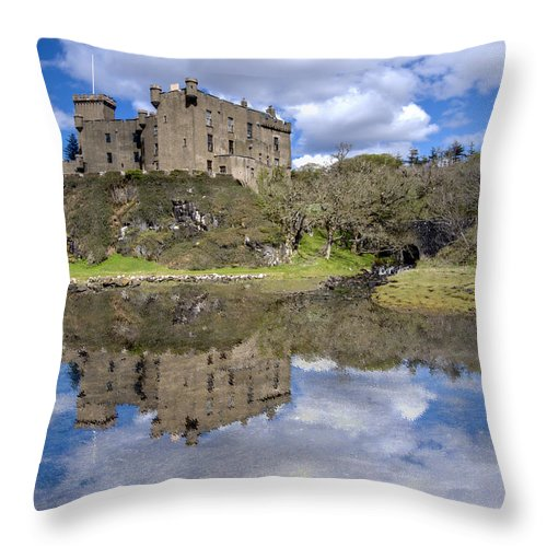 Dunvegan Throw Pillow featuring the photograph Dunvegan Castle - 1 by Paul Cannon
