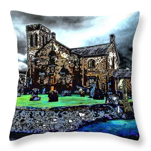 Dunlop Kirk Throw Pillow featuring the photograph During The Storm by James Potts