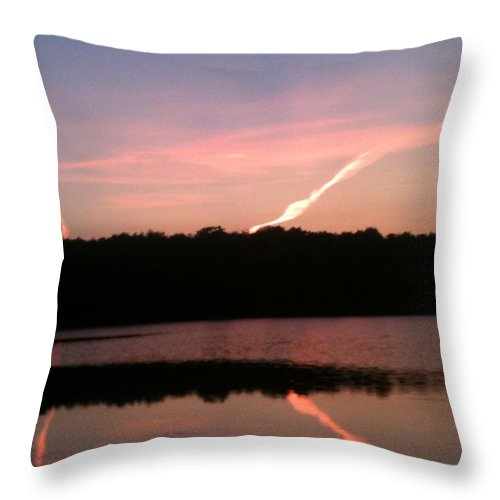 Dusk Throw Pillow featuring the photograph Dusk in the Poconos by Sheila Mashaw