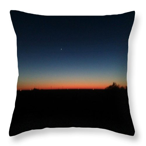 Weather Photos Throw Pillow featuring the photograph Dusk by William Hill