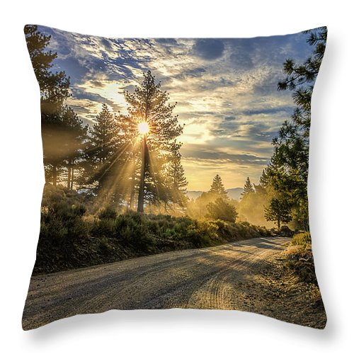 Beautiful Throw Pillow featuring the photograph Dusty Road by Maria Coulson