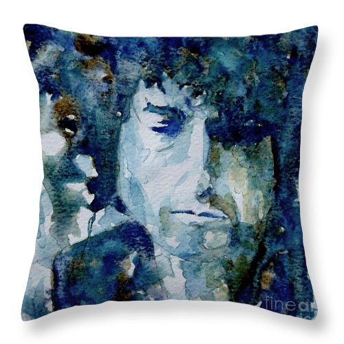 Icon Throw Pillow featuring the painting Dylan by Paul Lovering
