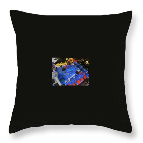 Legos Throw Pillow featuring the photograph Dynon Detail by Zac AlleyWalker Lowing