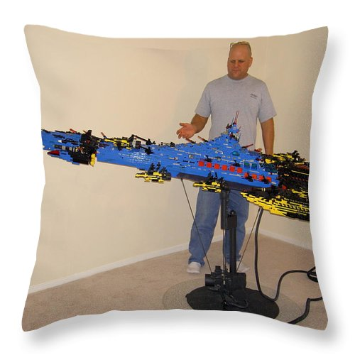 Legos Throw Pillow featuring the photograph Dynonochus 1 by Zac AlleyWalker Lowing
