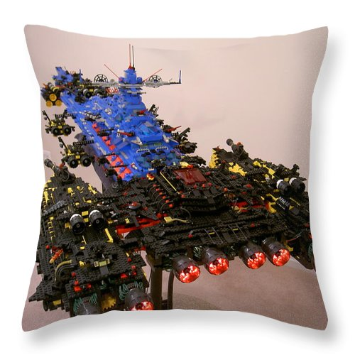 Legos Throw Pillow featuring the photograph Dynonochus Stern 2 by Zac AlleyWalker Lowing
