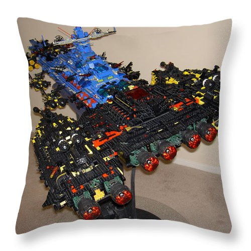 Legos Throw Pillow featuring the photograph Dynonochus Stern 3 by Zac AlleyWalker Lowing