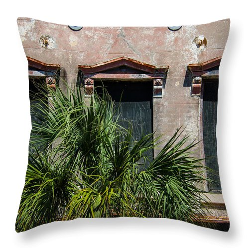 Earthquake Bolts Throw Pillow featuring the photograph Earhquake Bolts by Dale Powell