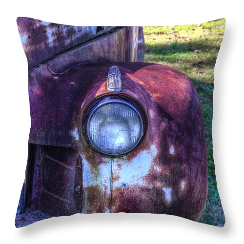 Automobile Throw Pillow featuring the photograph Early 1950s Automobile 1 by Douglas Barnett
