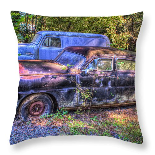 Early Throw Pillow featuring the photograph Early 1950s Hudson by Douglas Barnett