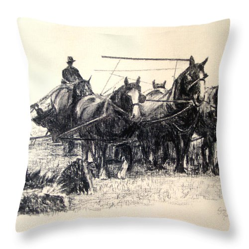Lynda Robinson Throw Pillow featuring the painting Early Harvest by Lynda Robinson