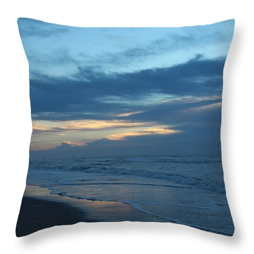 Topsail Throw Pillow featuring the photograph Early Light #1 by Rand Wall