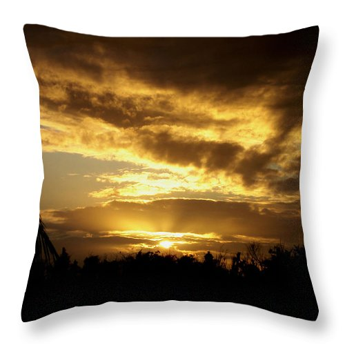 Sunrise Throw Pillow featuring the photograph Early Morning Sunrise by Laurie Pelletier