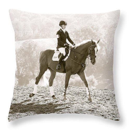 Horse Throw Pillow featuring the photograph Early Morning Warmup by Alice Gipson