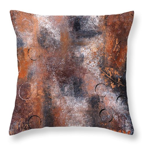 Abstract Throw Pillow featuring the painting Earth 2 by Wendy Provins