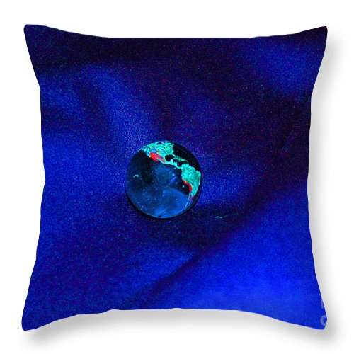 First Star Art Throw Pillow featuring the digital art Earth Alone by First Star Art