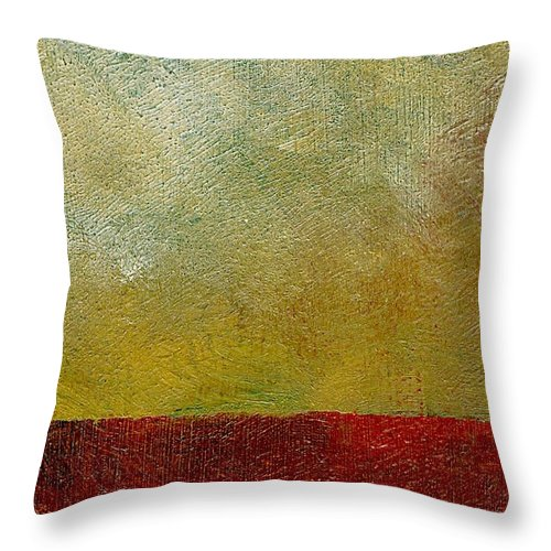 Abstract Landscape Throw Pillow featuring the painting Earth Study One by Michelle Calkins