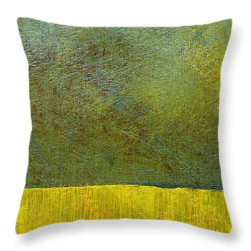 Abstract Landscape Throw Pillow featuring the painting Earth Study Two by Michelle Calkins