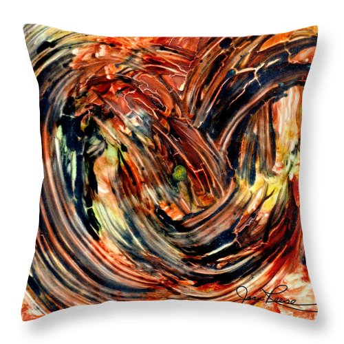 Abstract Painting Throw Pillow featuring the painting Earth Winds by Joan Reese