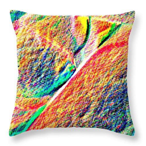 Abstract Throw Pillow featuring the photograph Ease by T F McDonald
