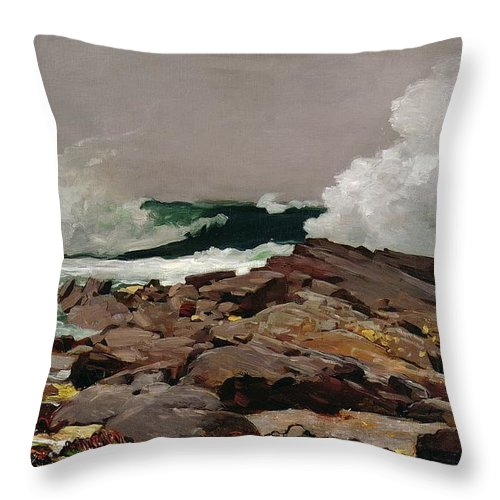 Eastern Throw Pillow featuring the painting Eastern Point 1900 by Philip Ralley